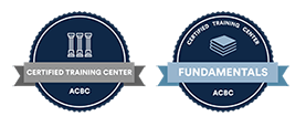 ACBC Certified Training Center and Fundamentals Training Course badges